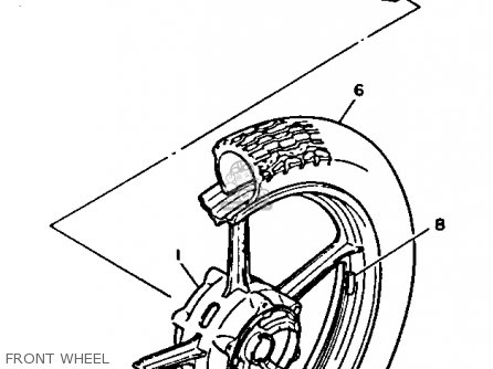 Yamaha Xv750 Virago 1991 (m) Usa parts list partsmanual