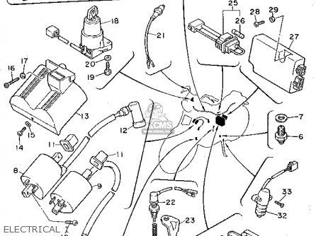 Yamaha Xv750 Virago 1992 (n) Usa parts list partsmanual