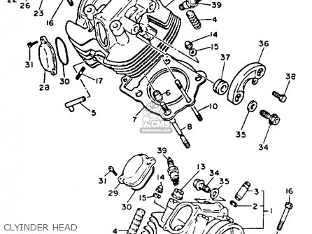 Yamaha Xv750 Virago 1993 (p) Usa parts list partsmanual