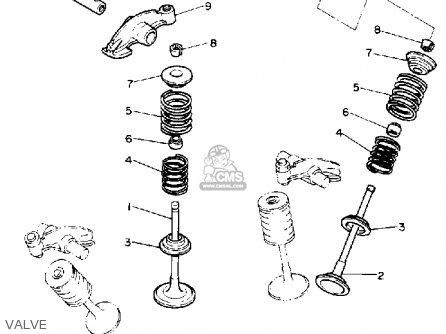 Yamaha Xv750a Virago 1990 parts list partsmanual partsfiche