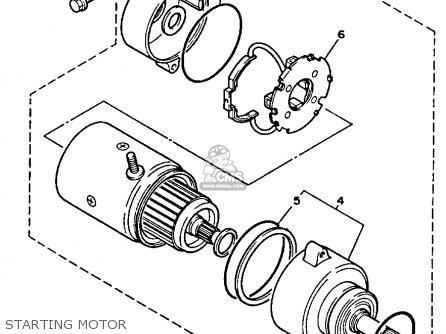 Yamaha Xv750b Virago 1991 parts list partsmanual partsfiche