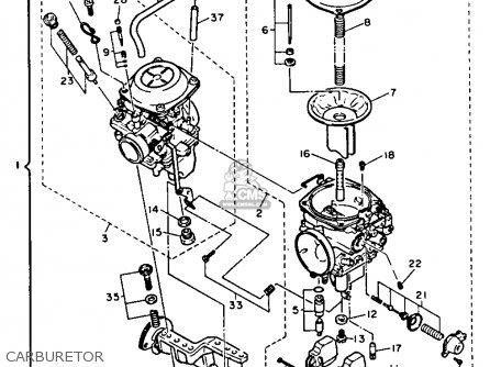 Yamaha Xv750bc Virago 1991 parts list partsmanual partsfiche