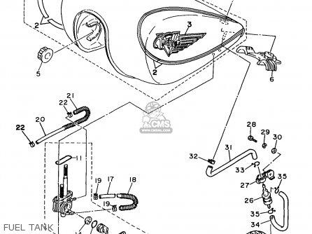 Yamaha Xv750c-1 Virago 1997 (v) California parts list