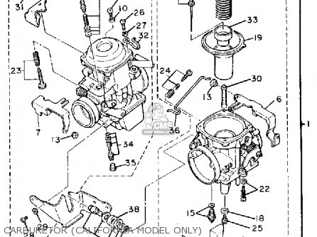 Yamaha Xv750c Virago 1988 (j) California parts list