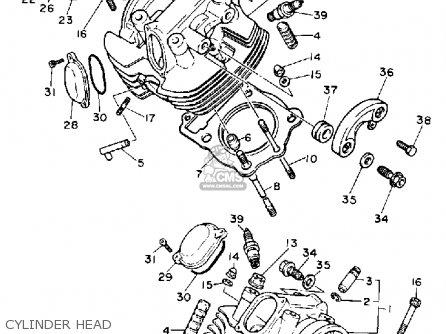 Yamaha Xv750c Virago 1990 (l) California parts list