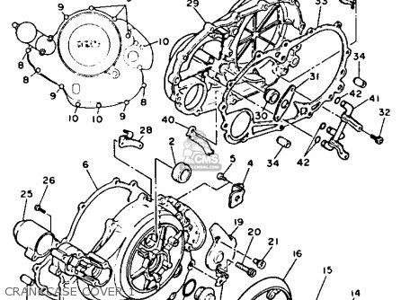 Yamaha Xv750c Virago 1991 (m) California parts list