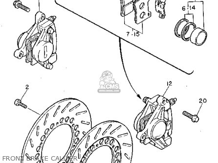 Yamaha Xv750c Virago 1992 (n) California parts list