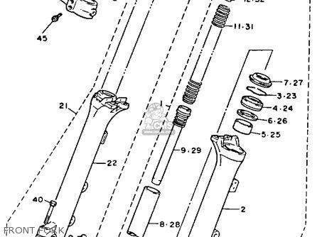 Yamaha XV750C VIRAGO 1993 (P) CALIFORNIA parts lists and