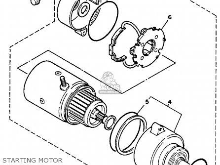 Yamaha Xv750c Virago 1993 (p) California parts list