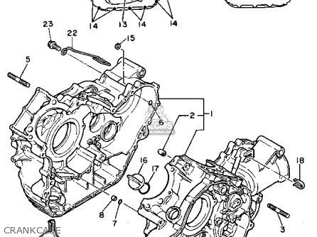 Yamaha Xv750d 1992 parts list partsmanual partsfiche