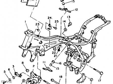 Yamaha Xv750e 1993 parts list partsmanual partsfiche