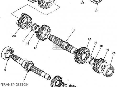 Yamaha Xv750g 1995 parts list partsmanual partsfiche