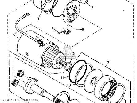 Yamaha Xv750h 1981 parts list partsmanual partsfiche