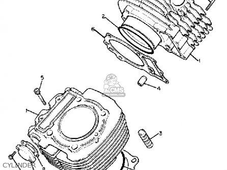 Yamaha Xv750j 1982 parts list partsmanual partsfiche