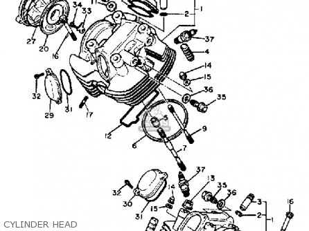 Yamaha Xv750k Virago 1983 parts list partsmanual partsfiche