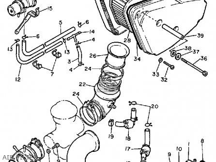 Yamaha Xv750m Virago 1983 (d) Usa parts list partsmanual
