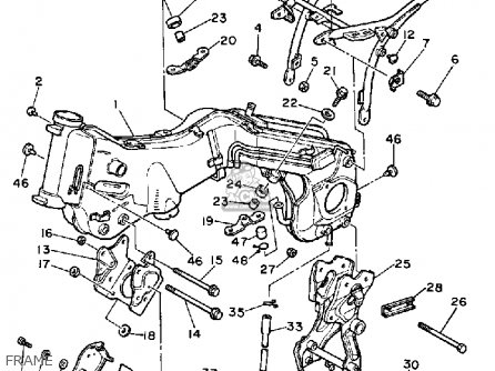 Yamaha XV750M VIRAGO 1983 (D) USA parts lists and schematics