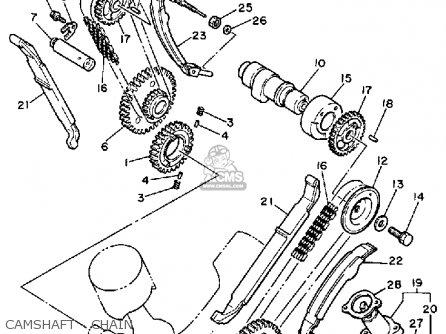 Yamaha Xv750mk 1983 parts list partsmanual partsfiche
