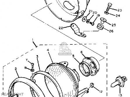 Yamaha Xv920mk 1983 parts list partsmanual partsfiche