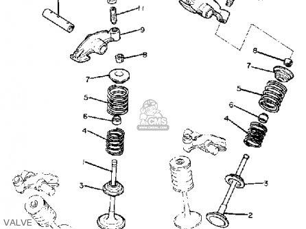 Yamaha Xv920r Virago 1981 (b) Usa parts list partsmanual