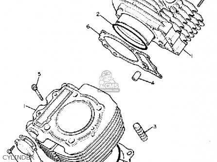 Yamaha Xv920rh 1981 parts list partsmanual partsfiche