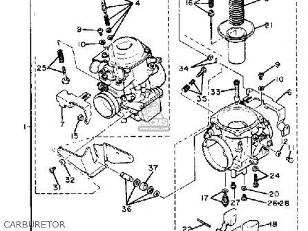 Yamaha Xv920rj Virago 1982 parts list partsmanual partsfiche