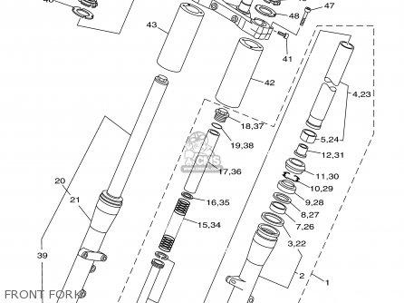 Yamaha Xvs1100an/anc 2001 parts list partsmanual partsfiche