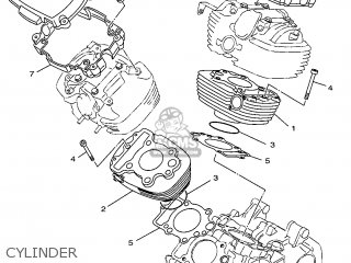 Yamaha XVS650 1997 4VR1 ENGLAND 274VR-300E4 parts lists