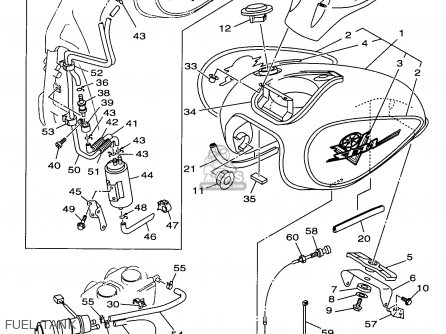 1998 Yamaha Grizzly 600 Carburetor Diagram