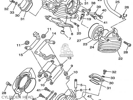 Yamaha Xvs650al/alc 1999 parts list partsmanual partsfiche