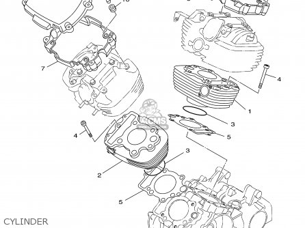 Yamaha Xvs650am/amc 2000 parts list partsmanual partsfiche