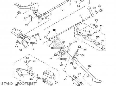 Yamaha Xvs650am/amc 2000 parts list partsmanual partsfiche