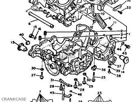Yamaha XVZ12D VENTURE ROYALE 1985 (F) USA parts lists and