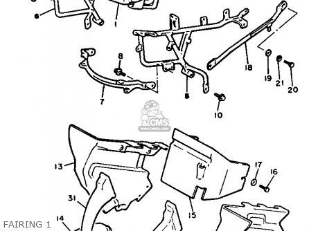 Yamaha Xvz12d Venture Royale 1985 (f) Usa parts list