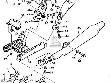 Yamaha XVZ12DKC2 VENTURE ROYALE 1984 (E) USA parts lists