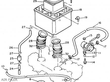 Yamaha Xvz12td Venture Royale 1983 (d) Usa parts list