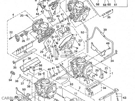 Yamaha Xvz13ak/akc 1998 parts list partsmanual partsfiche