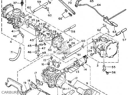 Yamaha Xvz13ds dsc 1986 1987 Carburetor