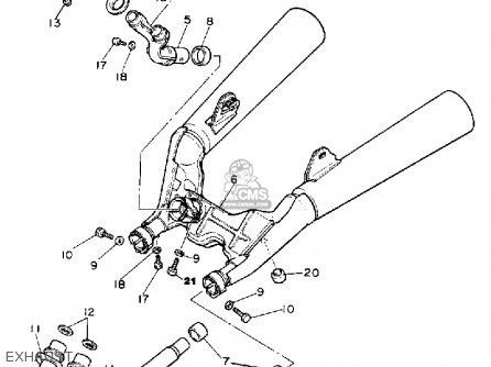 Yamaha Xz550r Vision 1982 (c) Usa parts list partsmanual