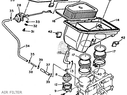 Yamaha Xz550r Vision 1983 (d) Usa parts list partsmanual