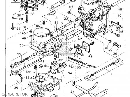 Yamaha Xz550rj 1982 parts list partsmanual partsfiche