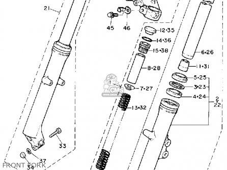 Yamaha Xz550rj 1982 parts list partsmanual partsfiche
