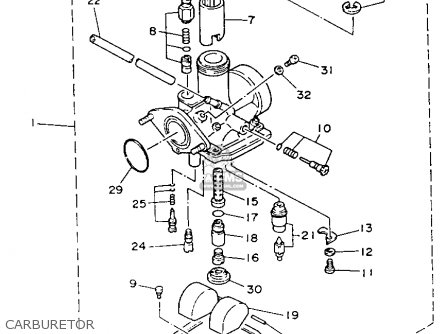 Yamaha YFA1E BREEZE MOTO-4 1993 parts lists and schematics