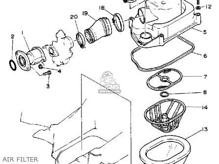 Yamaha Yfa1w Breeze 1989 parts list partsmanual partsfiche