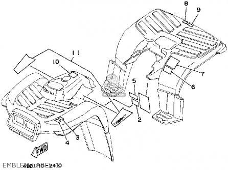 Yamaha YFB250D TIMBERWOLF 1992 parts lists and schematics
