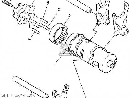Yamaha Yfb250d Timberwolf 1992 parts list partsmanual