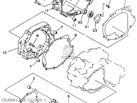 Yamaha YFB250E TIMBERWOLF 1993 parts lists and schematics