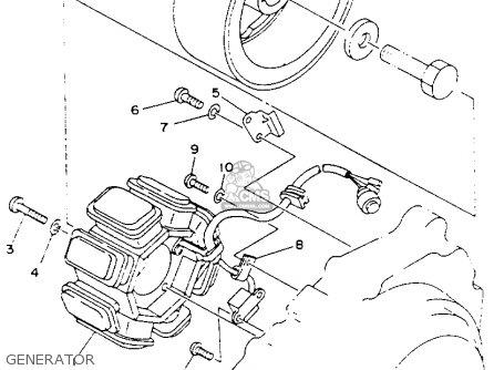 Yamaha Yfb250e Timberwolf 1993 parts list partsmanual
