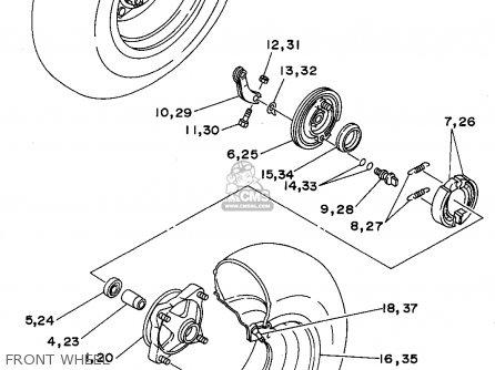 Yamaha Yfb250f 1994 parts list partsmanual partsfiche