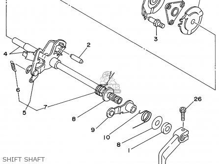 Yamaha Yfb250fwl 1999 Usa parts list partsmanual partsfiche